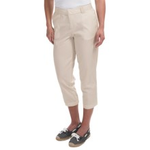Cotton Crop Pants - Flat Front (For Women) in Sand - 2nds