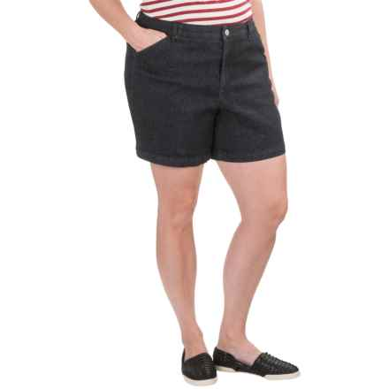 Cotton Denim Shorts (For Women) in Denim - 2nds