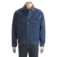 Cotton Denim Work Jacket - Zip-Off Sleeves (For Men) in Denim - 2nds