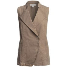 Cotton Faille Weave Vest (For Women) in Tan - 2nds