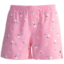 Cotton Flannel Dormwear Shorts (For Women) in Pink Dit Z - 2nds
