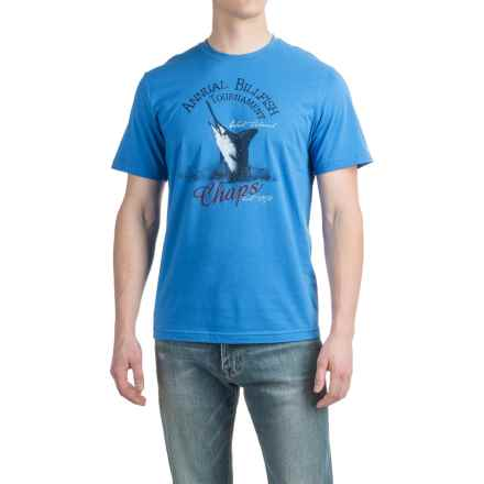 Cotton Graphic T-Shirt - Short Sleeve (For Men) in Blue/Annual Billfish - 2nds