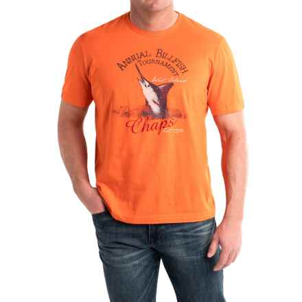 Cotton Graphic T-Shirt - Short Sleeve (For Men) in Burnt Orange/Annual Billfish - 2nds