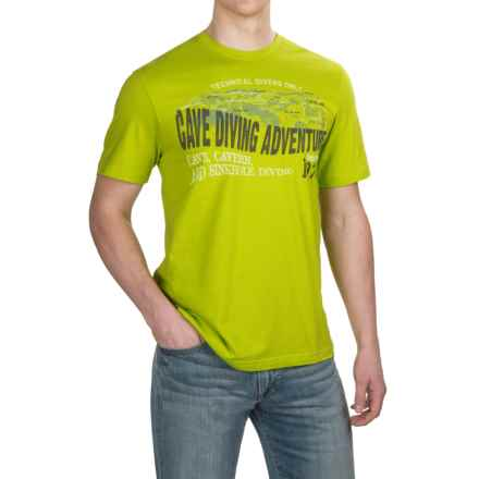 Cotton Graphic T-Shirt - Short Sleeve (For Men) in Cave Diving Adventure - 2nds