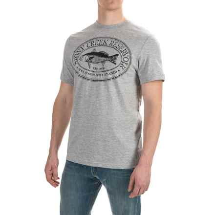 Cotton Graphic T-Shirt - Short Sleeve (For Men) in Grey Heather/Stony Creek - 2nds