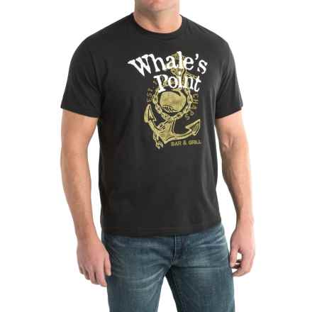 Cotton Graphic T-Shirt - Short Sleeve (For Men) in Whales Point - 2nds