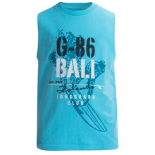 Cotton Jersey Muscle T-Shirt - Sleeveless (For Boys) in Blue - 2nds