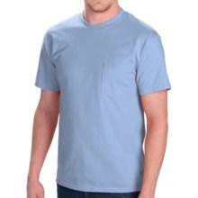 Cotton Jersey Pocket T-Shirt - Short Sleeve (For Men and Women) in Light Blue - 2nds