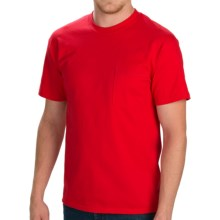 Cotton Jersey Pocket T-Shirt - Short Sleeve (For Men and Women) in Red - 2nds
