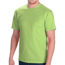 Cotton Jersey Pocket T-Shirt - Short Sleeve (For Men and Women) in Yellow Green - 2nds