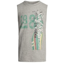 Cotton Jersey Tank Top - Crew Neck (For Boys) in Heather Surf Shop - 2nds