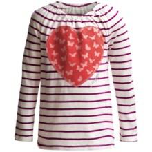 Cotton Knit Applique T-Shirt - Long Sleeve (For Toddler Girls) in Razza Mattaz - 2nds