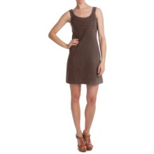 Cotton Knit Dress - Sleeveless (For Women) in Brown - 2nds