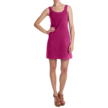 Cotton Knit Dress - Sleeveless (For Women) in Red Purple - 2nds
