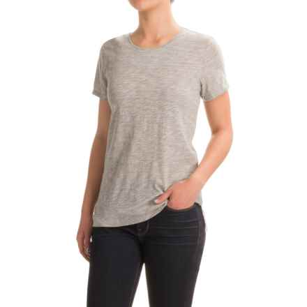 Cotton Knit Shirt - Scoop Neck, Short Sleeve (For Women) in Grey - 2nds