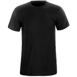 Cotton Knit T-Shirt - Short Sleeve (For Men) in Black