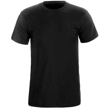 Cotton Knit T-Shirt - Short Sleeve (For Men) in Black - 2nds