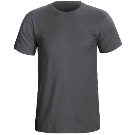 Cotton Knit T-Shirt - Short Sleeve (For Men) in Dark Grey - 2nds