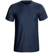 Cotton Knit T-Shirt - Short Sleeve (For Men) in Navy - 2nds