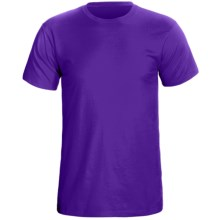 Cotton Knit T-Shirt - Short Sleeve (For Men) in Purple - 2nds