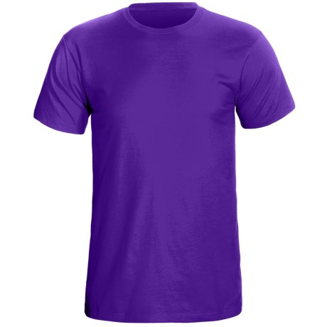Cotton Knit T-Shirt - Short Sleeve (For Men) in Purple