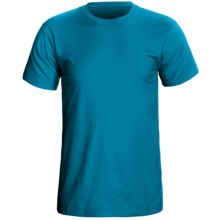Cotton Knit T-Shirt - Short Sleeve (For Men) in Turquoise - 2nds