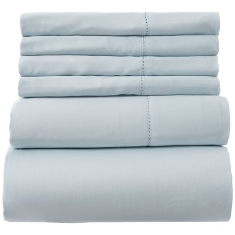 Image of Cotton Light Blue Sheet Set - King, 400 TC