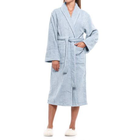 Image of Cotton Loop Terry Robe - Shawl Collar (For Women)