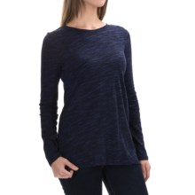 Cotton-Modal Shirt - Long Sleeve (For Women) in Black/Navy Heather - 2nds