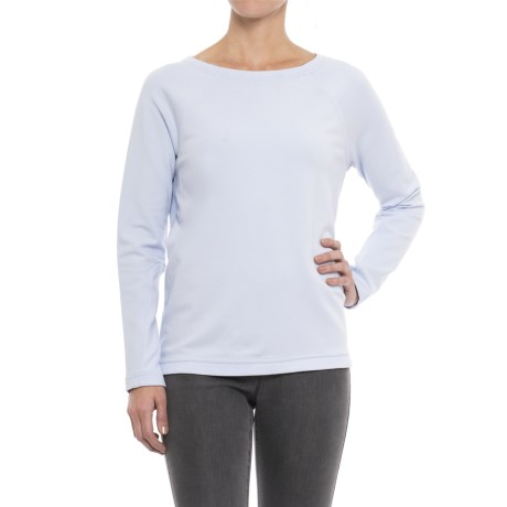 Cotton-Modal Shirt - Long Sleeve (For Women) in Blue