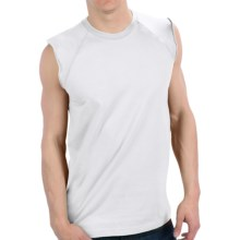 Cotton Muscle T-Shirt - Sleeveless (For Men) in White - 2nds