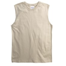 Cotton Muscle T-Shirt - Sleeveless (For Youth) in Sand - 2nds