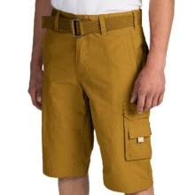 Cotton-Nylon Cargo Shorts (For Men) in Curry - 2nds