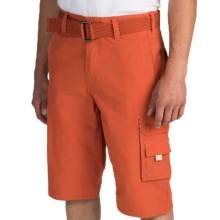 Cotton-Nylon Cargo Shorts (For Men) in Tomato - 2nds
