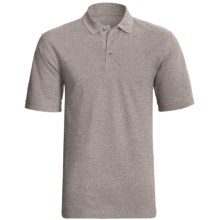 Cotton Pique Polo Shirt - Short Sleeve (For Men) in Grey Heather - 2nds