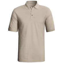 Cotton Pique Polo Shirt - Short Sleeve (For Men) in Natural - 2nds