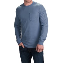 Cotton Pocket T-Shirt - Long Sleeve (For Men) in Blue Grey - 2nds