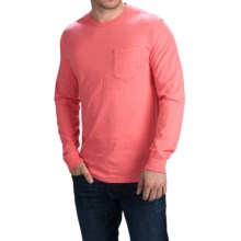 Cotton Pocket T-Shirt - Long Sleeve (For Men) in Coral - 2nds
