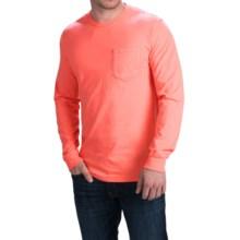 Cotton Pocket T-Shirt - Long Sleeve (For Men) in Fluorescent Orange - 2nds
