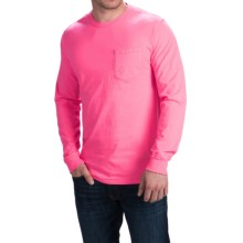 Cotton Pocket T-Shirt - Long Sleeve (For Men) in Fluorescent Pink - 2nds