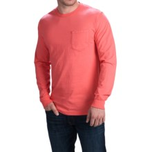 Cotton Pocket T-Shirt - Long Sleeve (For Men) in Red - 2nds