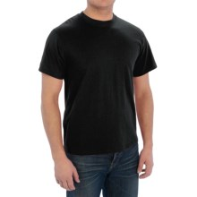 Cotton-Poly T-Shirt - Short Sleeve (For Men) in Black - 2nds