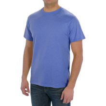 Cotton-Poly T-Shirt - Short Sleeve (For Men) in Blue Heather - 2nds