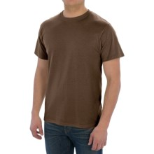 Cotton-Poly T-Shirt - Short Sleeve (For Men) in Brown - 2nds