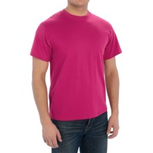 Cotton-Poly T-Shirt - Short Sleeve (For Men) in Dark Pink - 2nds