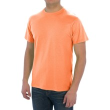 Cotton-Poly T-Shirt - Short Sleeve (For Men) in Fluorescent Orange Heather - 2nds