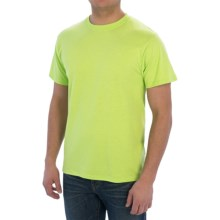 Cotton-Poly T-Shirt - Short Sleeve (For Men) in Fluorescent Yellow - 2nds