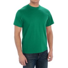 Cotton-Poly T-Shirt - Short Sleeve (For Men) in Medium Green - 2nds
