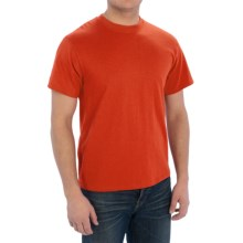 Cotton-Poly T-Shirt - Short Sleeve (For Men) in Orange - 2nds