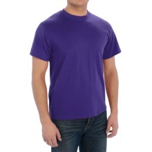 Cotton-Poly T-Shirt - Short Sleeve (For Men) in Purple - 2nds